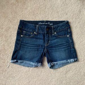 Basic Dark Wash American Eagle Jean Shorts